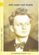 8 Lieder Nach Gedichten Von Goethe - Wilhelm Kempff - laflutedepan.com