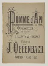 Pomme d' Api Jacques Offenbach Partition Opéras - laflutedepan.com