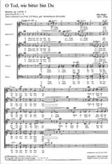 O Tod, Wie Bitter Bist Du Op. 110-3 Max Reger Partition laflutedepan