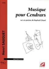 Henri Sauguet - Musique Pour Cendrars - Partition - di-arezzo.fr