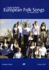 European Folk Songs. Voix Mixtes Partition Chœur - laflutedepan.com