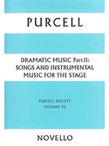 Henry Purcell - Dramatic Music Volume 2 - Sheet Music - di-arezzo.co.uk