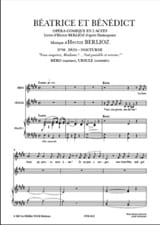 BERLIOZ - Peaceful and serene night. Beatrice and Benedict - Sheet Music - di-arezzo.co.uk