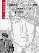 20 Morceaux Pour Piano Francis Poulenc Partition laflutedepan.com