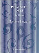 Rhapsody 3 Op. 17-3 Herbert Howells Partition Orgue - laflutedepan.com