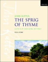 John Rutter - The Sprig Of Thyme - Partition - di-arezzo.fr