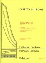 3 Rondos Ignaz Pleyel Partition Piano - laflutedepan.com