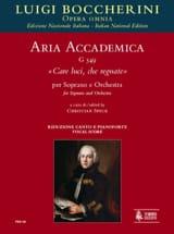 Luigi Boccherini - Care Luci, Che Regnate G 549 - Partition - di-arezzo.fr