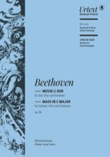 BEETHOVEN - Messe En Ut Opus 86 - Partition - di-arezzo.fr