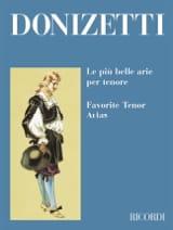 Gaetano Donizetti - Le Piu Belle Arie Per Tenore - Partition - di-arezzo.fr
