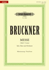 Anton Brückner - Messe Fa Mineur - Partition - di-arezzo.fr