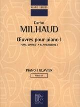 Oeuvres pour Piano - Volume 1 - Darius Milhaud - laflutedepan.com
