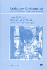 Beata Es Virgo Maria Leopold Mozart Partition Chœur - laflutedepan.com