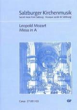 Missa In A Carlson IA3 Leopold Mozart Partition Chœur - laflutedepan