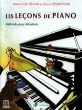 Les Leçons de Piano QUONIAM - NEMIROVSKI Partition laflutedepan.com