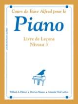 Piano - Livre de Leçons Niveau 3 ALFRED Partition laflutedepan.com