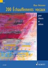 200 Echauffements Vocaux Klaus Heizmann Livre laflutedepan
