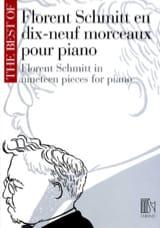 19 Morceaux pour piano Florent Schmitt Partition laflutedepan.com