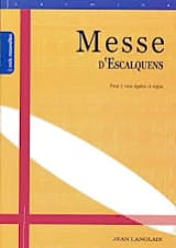 Messe D'Escalquens Opus 19 Jean Langlais Partition laflutedepan.com