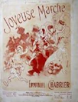 Joyeuse Marche. 4 Mains Emmanuel Chabrier Partition laflutedepan.com