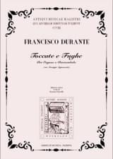 Francesco Durante - Toccate E Fughe Dam Ms Giuseppe Sigismondo - Partition - di-arezzo.fr