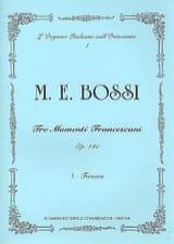 Marco Enrico Bossi - Fervore Op. 140-1 - Partition - di-arezzo.fr