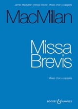 James Macmillan - Missa Brevis - Partition - di-arezzo.fr