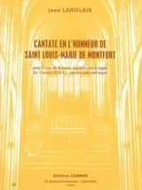 Cantate En L'honneur de Saint Louis-Marie de Montfort laflutedepan.com