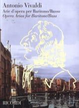 Arie D'opera Per Baritono / Basso VIVALDI Partition laflutedepan.com