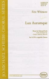 Eric Whitacre - Lux Aurumque - Sheet Music - di-arezzo.co.uk
