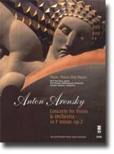 Anton Arensky - Concerto Op. 2 - Partition - di-arezzo.fr