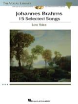 15 Selected Songs. Voix Grave - Johannes Brahms - laflutedepan.com