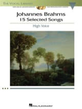 15 Selected Songs. Voix Haute BRAHMS Partition laflutedepan.com