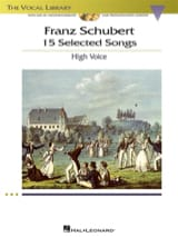 SCHUBERT - 15 Selected Songs. Voix Haute - Partition - di-arezzo.fr