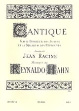 Reynaldo Hahn - canticle - Sheet Music - di-arezzo.com
