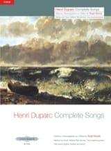 17 Mélodies. Voix Moyenne Henri Duparc Partition laflutedepan.com