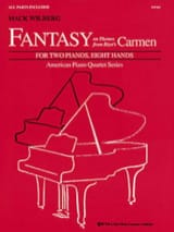 Fantasy On Thems From Carmen. 2 Pianos 8 Mains BIZET laflutedepan.com