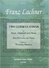 Franz Lachner - 2 German Songs - Sheet Music - di-arezzo.com
