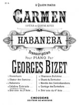 Georges Bizet - Habanera. 4 hands - Sheet Music - di-arezzo.co.uk