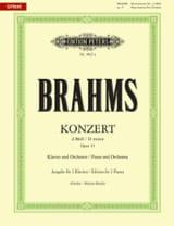 Johannes Brahms - Concerto pour piano N°1 Opus 15 En Ré Mineur - Partition - di-arezzo.fr
