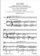 Jules Massenet - Cry, Cry, my Eyes. The Cid - Sheet Music - di-arezzo.com