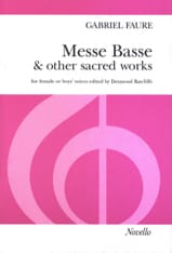 Messe Basse And Other Sacred Works Gabriel Fauré laflutedepan.com
