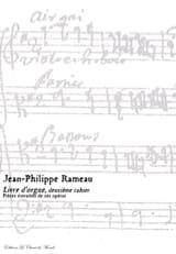 Livre D'orgue 2ème Cahier Jean-Philippe Rameau laflutedepan.com