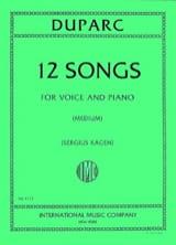 12 Mélodies. Voix Moyenne Henri Duparc Partition laflutedepan.com