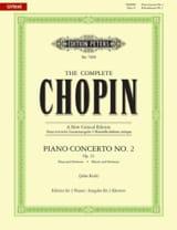 CHOPIN - Concerto Pour Piano N° 2 en fa mineur Opus 21 - Partition - di-arezzo.fr
