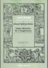 7 Motets Pour 3 Voix Giovan Battista Riccio Partition laflutedepan.com