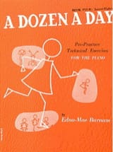 A Dozen A Day Volume 4 en Anglais Partition Piano - laflutedepan.com