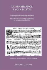 La Renaissance 3 Voix Mixtes - Partition - laflutedepan.com