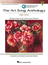 The Art Of Song Anthology. Voix Haute Partition laflutedepan.com