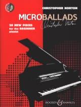 Microballads Christopher Norton Partition Piano - laflutedepan.com